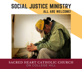 Social Justice Ministry meeting Tuesday, April 24