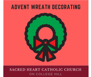 Advent Wreath Making Potluck December 3, 4 PM