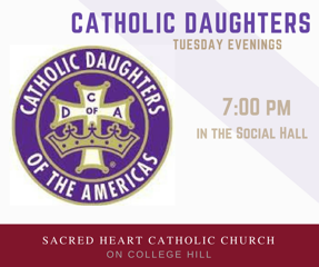 Catholic Daughters meeting, Tuesday, October 16