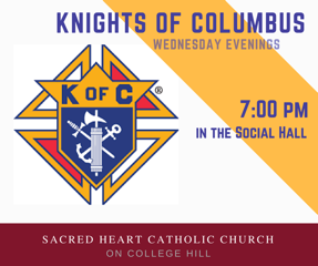 Knights of Columbus meeting Wednesday, April 18