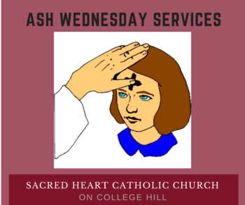 Ash Wednesday at Sacred Heart Church