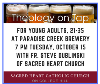 Theology on Tap for Young Adults, Tuesday, March 10, 7 p.m.