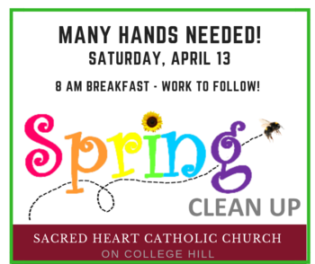 Spring Cleaning Saturday, April 13
