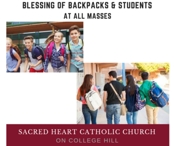 Blessing of Backpacks & Students