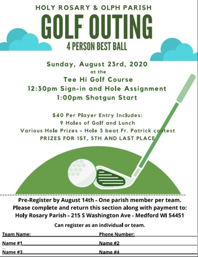 Holy Rosary & OLPH Golf Outing