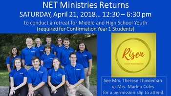 NET Ministries Retreat: RISEN