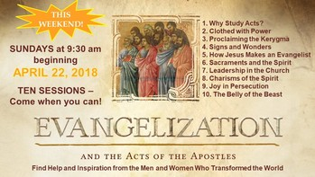 Evangelization and the Acts of the Apostles - Adult Faith Formation