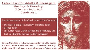 The Catechesis for Adults and Teenagers