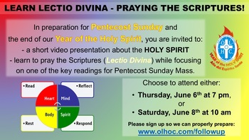 Video Presentation on Holy Spirit and Lectio Divina