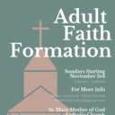 Sundays Adult Faith Formation Course