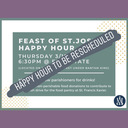 TO BE RESCHEDULED 3/19 Happy hour