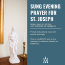 5/1 Sung Prayer Livestream for St. Joseph