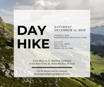 12/14 Young Adult Hike Saturday