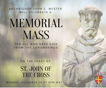 Live-streamed Memorial Mass for victims of COVID-19