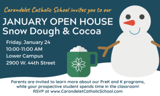January Open House- Friday, Jan. 24