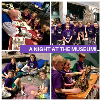 Fourth & Fifth Graders Spend a Night at the Museum!