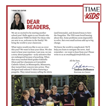 "Carondelet Students Featured in TIME Magazine's ""TIME for Kids"""