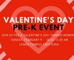 Valentine's Day PreK Event- Sunday, Feb. 9