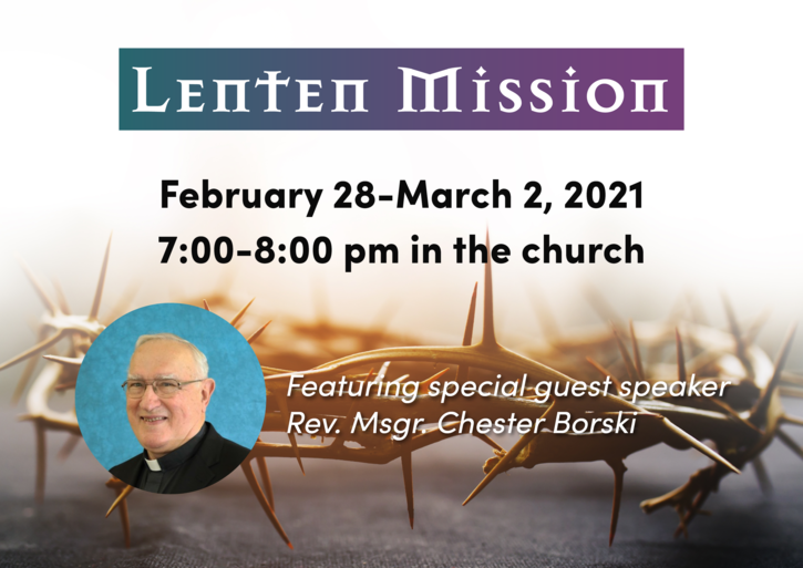 Lenten Mission: February 28-March 2, 2021