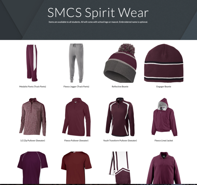 SMCS Spirit Wear No Available!