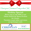Host your Christmas Party at the Christian Renewal Center!