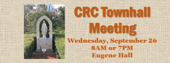 CRC Townhall Meeting September 26
