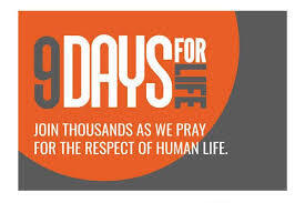 Nine Days For Life Novena January 21 to 29 (Click Here)