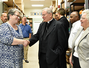 Bishop Serratelli Chris Barton Food Pantries