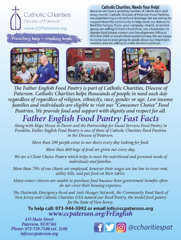 Food Shortage Food Pantry Paterson NJ