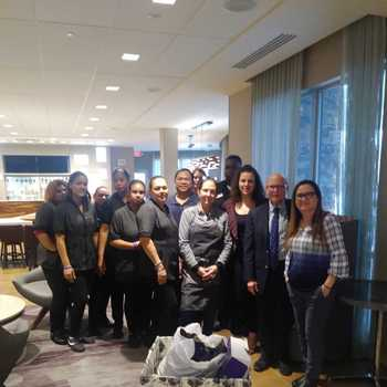 Courtyard Wayne Fairfield Hotel, Donates Winter Clothes to Father English Center