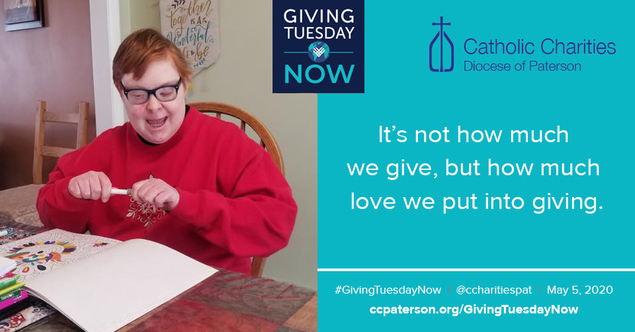 #GivingTuesdayNow Disabilities Charity Catholic Charities New Jersey