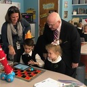 Mr. Deegan, Superintendent of Schools for the Archdiocese of NY, visits St. Patrick's School!