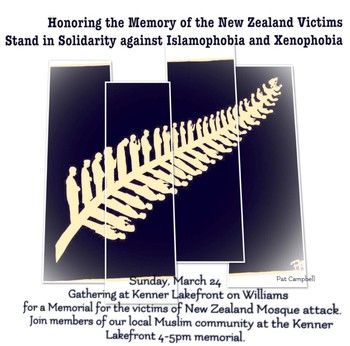 Family Gathering and Memorial Service for Victims of New Zealand Massacres This Sunday