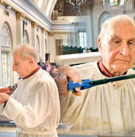 Our 95 Year Old Altar Server, Clarence Acosta, Is Now Serving At The Heavenly Altar Of God