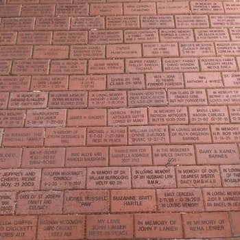 Purchase A Commerative Brick In Our Courtyard