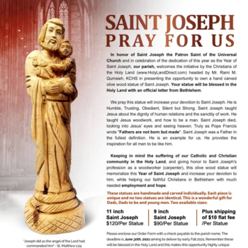 Olive Wood Statues Of St Joseph For Sale