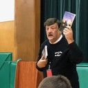Vincent Dacaquino, local historian, visits St. Patrick's School