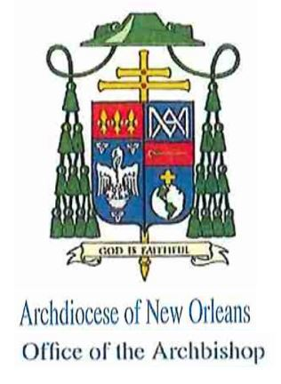 Ltr from the Archbishop of New Orleans - Sacrament of Reconciliation - Confession