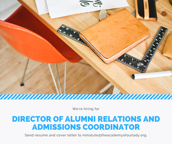 Director of Alumni Relations and Admissions Coordinator