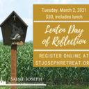 Lenten Day of Reflection, $30