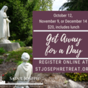 Get Away for a Day, October 12, 2021 $20