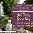 Get Away for a Day, September 14, 2021 $20