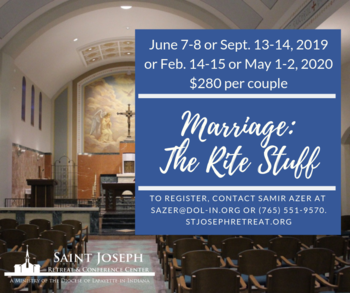 Marriage: The Rite Stuff Retreat offered Four Times in Coming Months