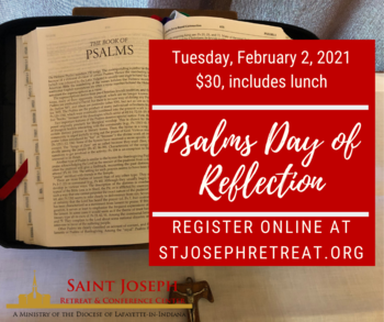 Psalms Day of Reflection, $30