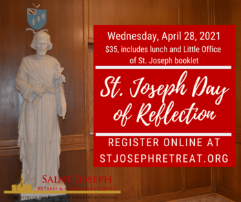 St. Joseph Day of Reflection, $35