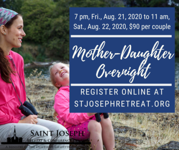 NEW DATE Mother-Daughter Overnight August 21-22, 2020