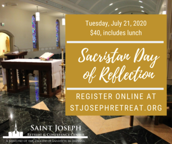 Sacristan Day of Reflection 7/21/2020