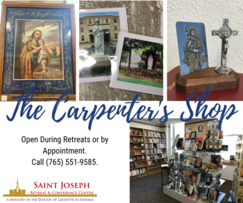 The Carpenter's Shop featuresGifts from DiocesanArtistsand More