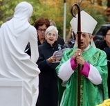 Marian Statue & Courtyard Blessing