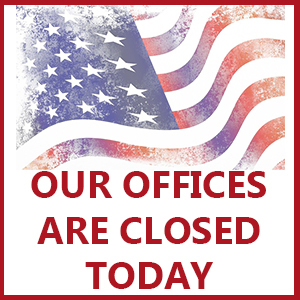 LABOR DAY - OFFICES CLOSED TODAY